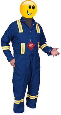 1754 coveralls reflective bands no flame
